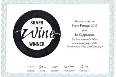 Fontego has been awarded a Silver medal at 2014 IWC