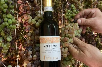 "It's time to press the ""Arzimi"" Arzimo Recioto di Soave"